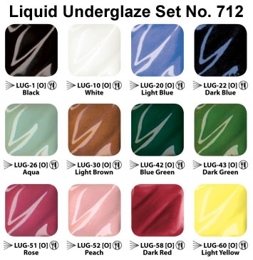 Liquid Underglaze Set 712