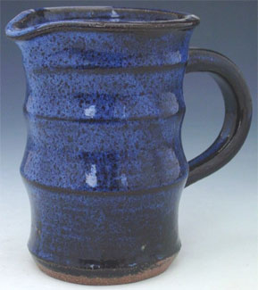 Mottled Blue Pitcher
