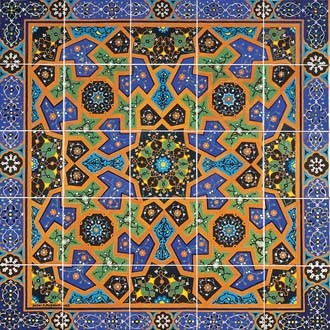 Photo of a ceramic Persian tile