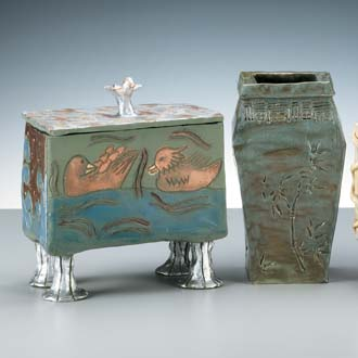 Photo of ceramic chinese vessels