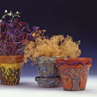 Photo of glazed terra cotta pots