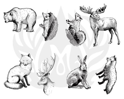 Mayco Designer Silkscreen Woodland Animals