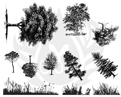 Mayco Designer Silkscreen Trees and Grass
