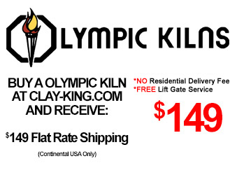 Olympic Kilns have a flat rate $1149 shipping to anywhere in the continental USA