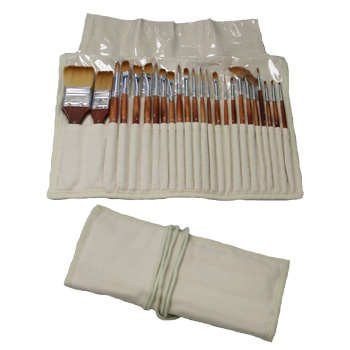 Artisan 24pc Brush Set w/ Canvas Case