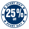 25% Off Everyday