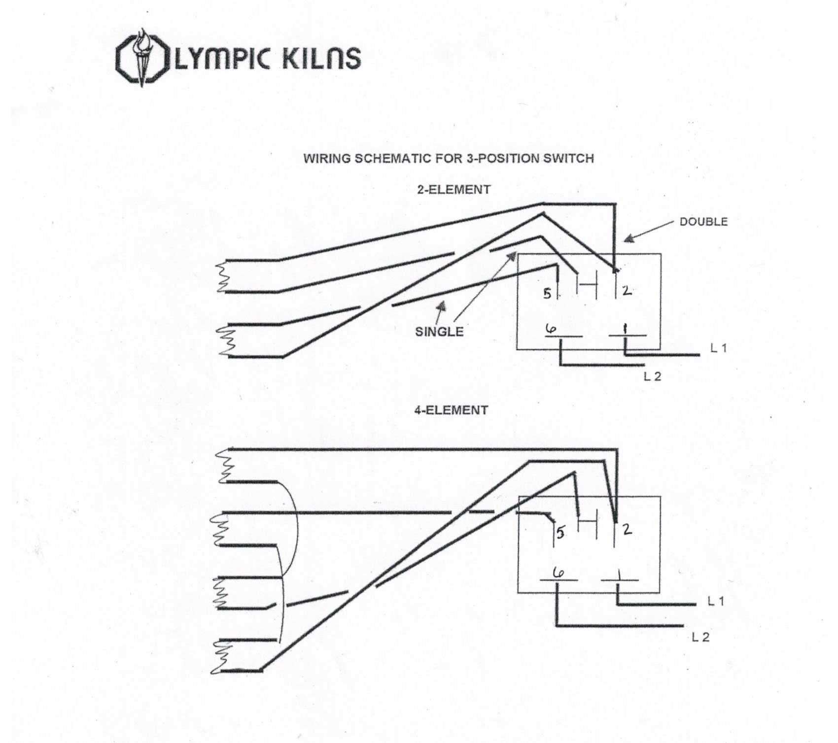 3 position switch best olympic kiln replacement elements clay king com olympic 2327 kiln wiring diagram at mifinder.co