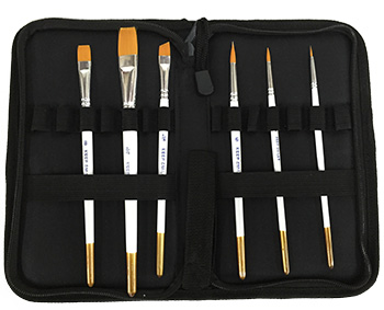 Artisan 6pc Brush Set w/ Zipped Case
