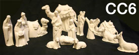 CC6 Small Nativity Scene Bisqueware
