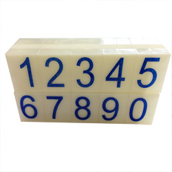 Artisan 621 Rubber Number Set 19/32 inch