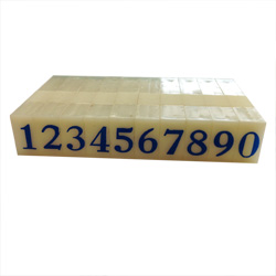 Artisan 624 Rubber Number Set 1/4 inch