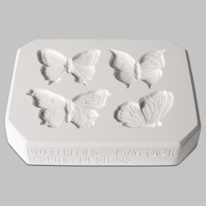 Mayco Mold CD-1261 Butterflies - 4 designs