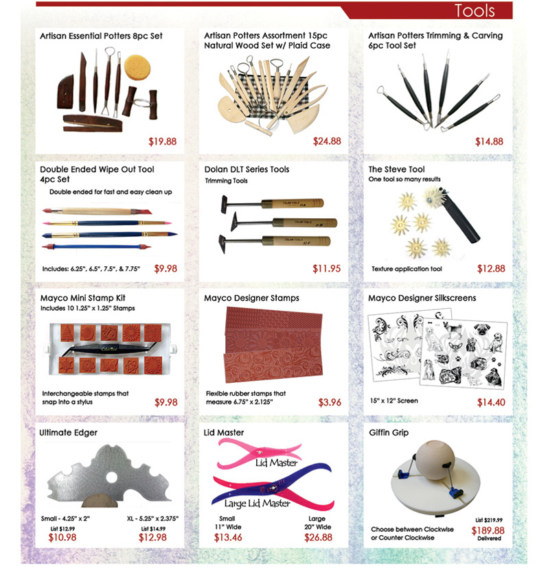 Clay King Mini Catalog Page 3 Tools