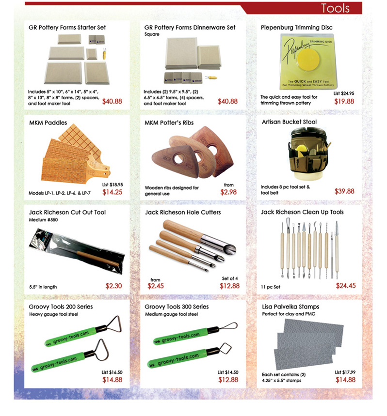 Clay King Mini Catalog Page 6 Tools