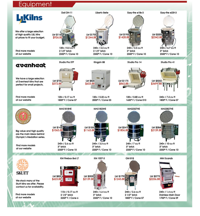 Clay King Mini Catalog Page 7 Equipment