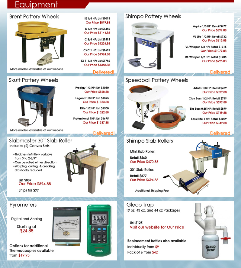 Clay King Mini Catalog Page 8 Equipment