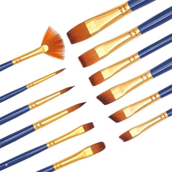 Dainayw Artist Brushes 12 pc Set