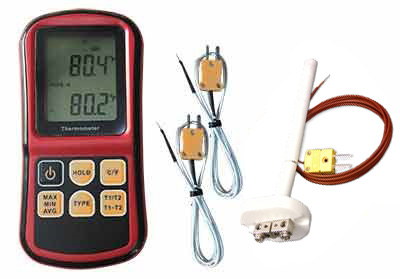 E0293 Dual-Input Digital Handheld Pyrometer Package