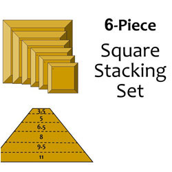 G.R. Pottery Forms Square Stacking Set