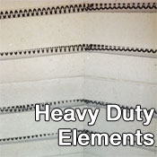 Heavy Duty Kiln Elements on Medallion Kilns at Clay-King.com