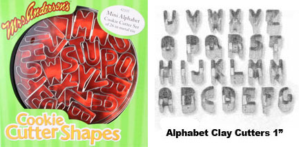 Mini Alphabet Cookie Cutter Set