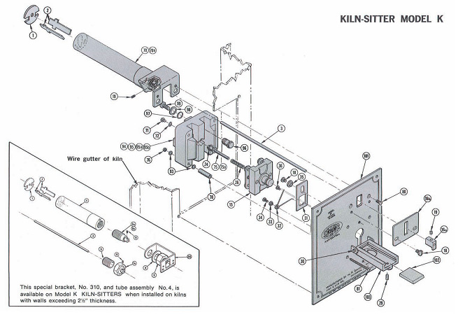 kiln_sitter_k kiln sitter parts and accessories at best price clay king com olympic 2327 kiln wiring diagram at mifinder.co