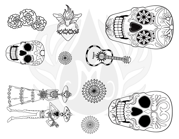 Mayco Designer Silkscreen DSS-152 Day of the Dead