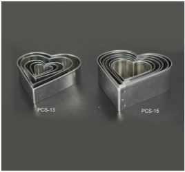 PCS15 Heart Cutter Set - 6 pieces