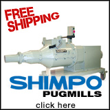Free Shipping on Shimpo Pugmills 