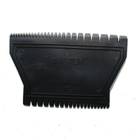Rubber Trapezoid Texture Comb 4.5 Inch RCB02