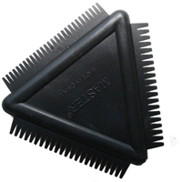 Rubber Triangle Texture Comb 3.5 Inch RCB01