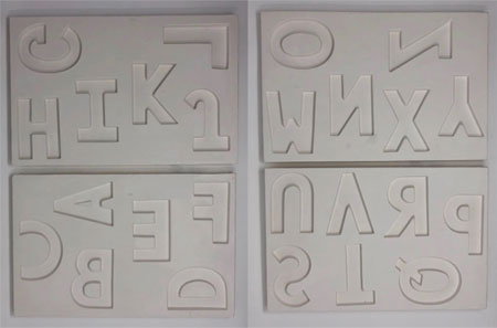 2pc alphabet mold set