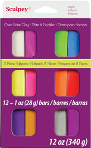 Sculpey III Brights Multipack 12 1oz