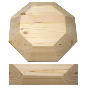 Octagon Bamboo Drape Mould Scratch and Dent