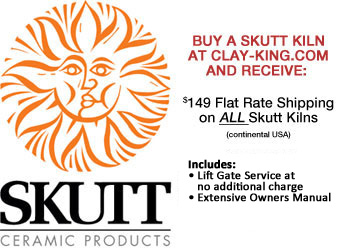 $149 Flat Rate Shipping on Skutt Kiln Purchases from Clay-King.com