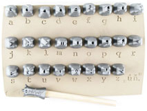 Courier Alphabet Lowercase 0.25in