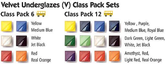 Velvet Underglaze Class Pack 6 Pints