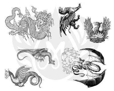 Mayco Designer Silkscreen DSS-115 Dragons
