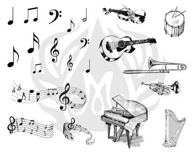 Mayco Designer Silkscreen DSS-124 Music