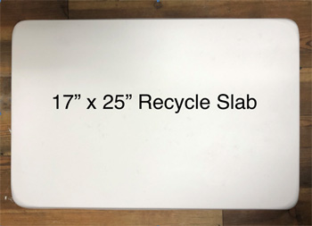 17 x 25 inch Plaster Recycle Slab/Wedging Board