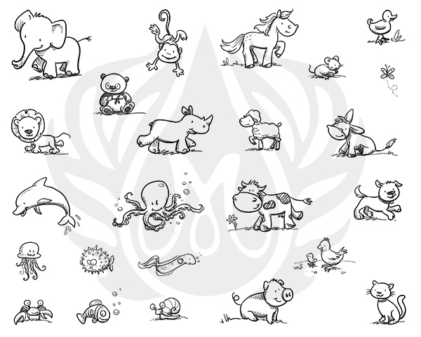 Mayco Designer Silkscreen DSS-137 Cutesy Animals