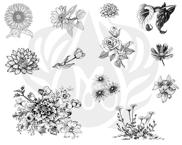 Mayco Designer Silkscreen DSS-138 Flowers 2