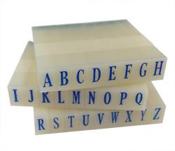 Artisan 614 Rubber Letter Stamp Set 1/4 inch
