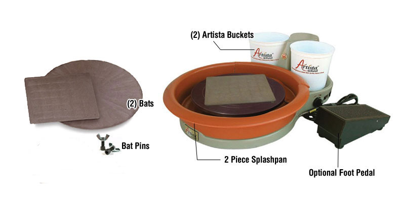 Speedball Artista Pottery Wheel Package