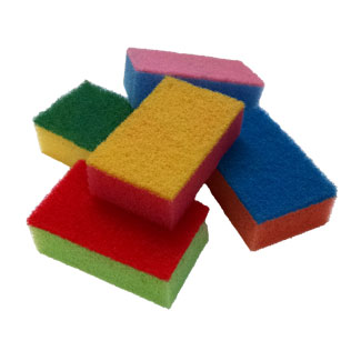 Sponges for Cleaning Bisqueware & Clay Assorted Colors