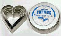 Ateco Plain Heart Cutter Set