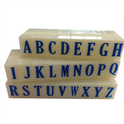 Artisan 611 Rubber Letter Stamp Set 19/32 inch