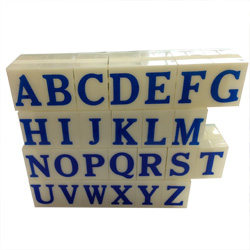 Artisan 610 Rubber Letter Stamp Set 1 inch