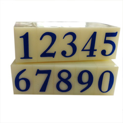 Artisan 623 Rubber Number Set 11/32 inch