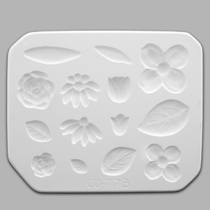 Mayco Mold CD-778 Flowers and Leaves